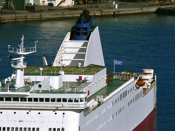 フェリーひむか 長崎の白い船